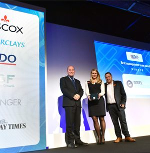 Godel wins Best Management Team at Sunday Times Hiscox Tech Track 2017 awards