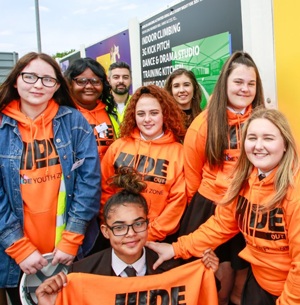 Godel celebrates construction at East Manchester Youth Zone.