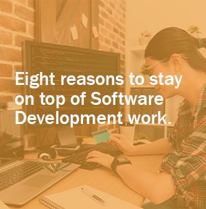 Eight reasons to keep on top of software development work